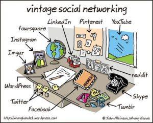 Sosiaalisen median vertaus konkreettisiin tavaroihin (Atkinson 2013).